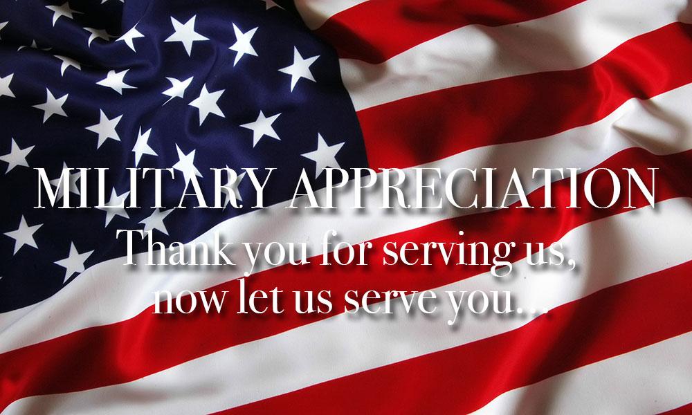 Military Appreciation Discount
